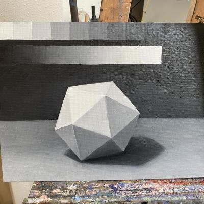 Icosahedron Grisaille